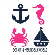 Set of Nautical Decals Nautical Wall Decals by CustomVinylbyBridge, $30.00