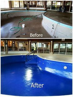Repairing and Resurfacing swimming pool Waterproofing Pool Repair - DIY. A solution that actually works! A solution that actually works! Swimming Pool Repair, Swimming Pool Designs, Swimming Pools, Pools Inground, Indoor Pools, Diy Pool, Pool Spa, Jacuzzi, Pool Remodel