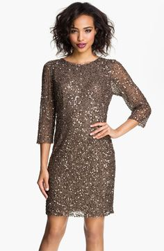 Pisarro Nights Cowl Back Sequin & Bead Dress available at Nordstrom