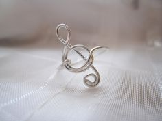Silver+Treble+Clef+Ring+by+DesignedByLei+on+Etsy,+$9.75