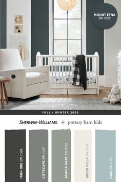 Light and bright décor pops against the dark green Sherwin-Williams hue, Mount Etna SW 7625. Tap the pin for more paint color inspiration from the @potterybarnkids Fall/Winter 2020 palette. #sherwinwilliams #DIY #paint #decor #nursery #nurseryinspo #lovemypbk #pbkids #homedecor #painting #colorinspiration #renovation #potterybarnkids #bluepaint #graypaint #whitepaint #greenpaint Bright Paint Colors, Bright Decor, Paint Colors For Home, House Colors, Green Bedroom Paint, Bedroom Colors, Pottery Barn Bedrooms, Pottery Barn Kids, Pottery Barn Paint Colors