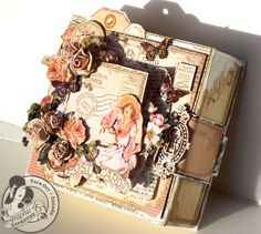 Tara Orr altered box with A Place in Time....looks like a book