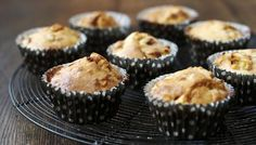 Toffee apple muffins: quick to make and perfect for baking with children.