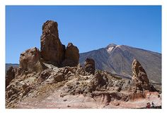 Some bizarre rock formation in Teide national park on Tenerife...