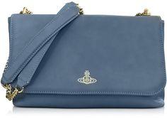 Vivienne Westwood  Spencer Blue Leather Shoulder Bag