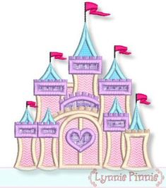 Embroidery Designs - Fancy Castle Applique 4x4 5x7 6x10 7x11 - Welcome to Lynnie Pinnie.com! Instant download and free applique machine embroidery designs in PES, HUS, JEF, DST, EXP, VIP, XXX AND ART formats.