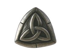 3 Trinity Knot 3/4 inch 20 mm Metal Shank Buttons by ButtonJones, $4.50