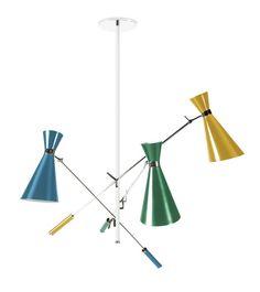 1o Frühjahr Luxus-Möbel für Wohnzimmer | Duke Suspension by DelightFULL | Die bunte Trendfarben von Duke Hängeleuchte ist ideal für jeden Raum im Haus. Es kann eine Feder berühren in einer Wohnzimmer oder sogar ein Schlafzimmer Dekor geben. | Mehr: http://wohn-designtrend.de/fruehjahr-luxus-moebel-fuer-wohnzimmer/