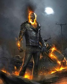 Ghost Rider card art by Francesco Mattina from Marvel War of Heroes