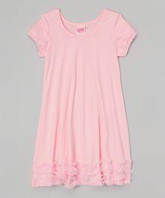Pink Lace Ruffle Dress - Toddler & Girls #zulily #zulilyfinds