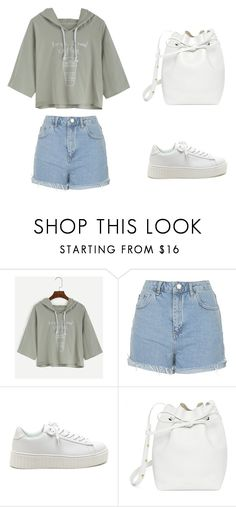 """""""School"""" by moonandbook ❤ liked on Polyvore featuring Topshop and Mansur Gavriel"""