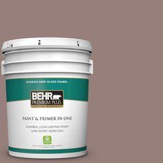 BEHR Premium Plus 5-gal. #N130-5 Mystere Semi-Gloss Enamel Interior Paint