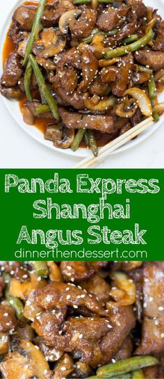 Panda Express Shanghai Angus Steak is a quick stir fry dish with thinly sliced…