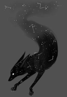 Encontre este Pin e muitos outros na pasta Space Fox Art de LittleFox - Hollow Knight - Arte Dark Fantasy Art, Fantasy Wolf, Mystical Animals, Mythical Creatures Art, Magical Creatures, Furry Art, Arte Furry, Creature Drawings, Animal Drawings