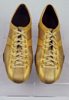 6e372b19373 COLE HAAN NIKE AIR Women s Gold Lizard Sneakers Size 5 B Great Pre-Owned  Cond.  ColeHaanNikeAir  FashionSneakers