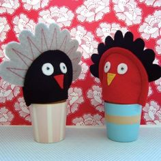 2 Spring Chickens - Egg Cozies