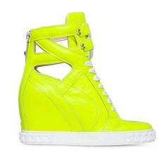 Fashion candy color neon green wedges heel women shoes lace-up cut-outs increasing shoes autumn shoes women free shipping