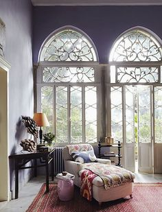 Gorgeous Windows~❥ I wonder if i could turn our new living room windows into this?
