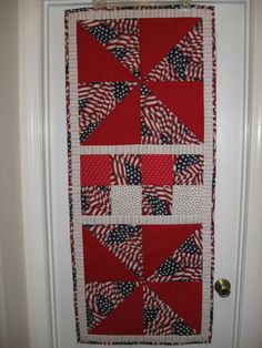 Patriotic Table runner Quilt by VickiM from the quiltingboard.com