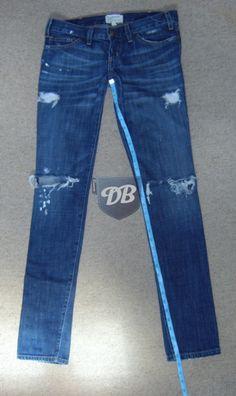 Hem jeans with original hem. No cutting