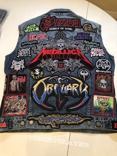 First battle vest Punk Jackets, Cool Jackets, Thrash Metal, Punk Outfits, Cool Outfits, Trendy Outfits, Heavy Metal Fashion, Gothic Boots, Battle Jacket