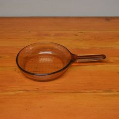 Vintage Pyrex Corning Visionware France pan amber glass cookware Vision by MaAndPasAttic on Etsy