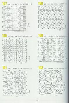 262 patrones crochet by karmittarte - issuu Crochet Stitches Chart, Tunisian Crochet Patterns, Crochet Motifs, Crochet Diagram, Crochet Doilies, Crochet Lace, Knitting Patterns, Blanket Stitch, Le Point