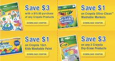 Crayola Printable Coupons: Print NOW!