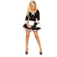Sexy Bridget French Maid Adult Costume ($109) ❤ liked on Polyvore featuring costumes, outfits, cosplay, dresses, sexy maid costume, sexy women halloween costumes, sexy cosplay costumes, sexy halloween costumes and sexy adult halloween costumes
