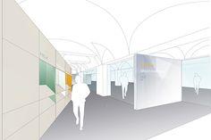 Ankauf beim EU-weiten Wettbewerb zur Neugestaltung des Hauses der Architektur in Graz.  Im denkmalgeschütztem Palaise Thinnfeld soll das neue Haus der Architektur seine architektonische heimat finden und diese auch an der Fassade ablesbar sein.