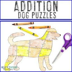 ADDITION Dog Puzzles | Fire Safety Activities - Make a Dalmation Craft! |  1st, 2nd, 3rd grade, Activities, Basic Operations, Games, Homeschool, Math 2nd Grade Classroom, Classroom Themes, Fire Safety Week, Reading Recovery, Dog Puzzles, Ell Students, Halloween Math, Critical Thinking Skills, Homeschool Math