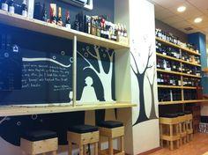 #Wine Bar Contiempo, vinoteca. Vinos y tapas. Calle Teobaldo Power, 26, Santa Cruz de Tenerife. Diseño murales, logo y cartelería, Simona Peres.