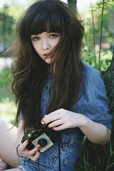 Glam Radar | 16 Great ideas of long hair with bangs