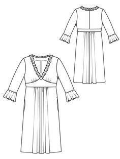 Flouncy Dress (Plus Size) 09/2012 #144 – Sewing Patterns | BurdaStyle.com