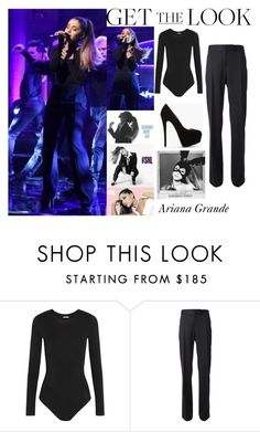 """""""Ariana Grande Saturday Night Live March 12 2016"""" by valensmilerstyle ❤ liked on Polyvore featuring Wolford, STELLA McCARTNEY and Giuseppe Zanotti"""