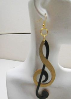 Music is the Answer Afrocentric Wood Earring by nubiansensations
