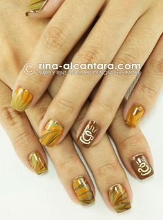 This is awesome! Coffee Nail Art Design (http://www.rina-alcantara.com)