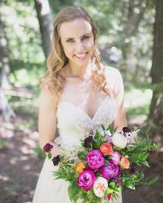 Fernie, BC Wedding II  Photo: JL Photo II Flowers: The Green Petal Wedding Flowers, Wedding Dresses, Got Married, Bouquets, Green, Instagram Posts, Fashion, Bride Dresses, Moda