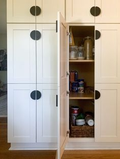 Our Cabinets to Go Cabinetry - Cassie Bustamante- check out this pantry with budget cabinetry Eclectic Kitchen, Eclectic Living Room, Modern Farmhouse Kitchens, Eclectic Decor, Kitchen Decor, Cozy Home Decorating, Diy Home Decor, Interior Decorating, Tall Cabinet Storage