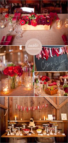 rustic barn wedding- would love to do this in my wedding colors! Wedding Themes, Wedding Colors, Wedding Flowers, Wedding Ideas, Wedding Photos, Wedding Centerpieces, Wedding Decorations, Bottle Centerpieces, Party Deco