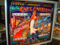 I want to play this pinball machine.  Elton in the 70s was incredible.