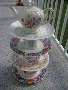 Pretty Posy Tiered Cakes, Patio, Garden, Pretty, Yard, Terrace, Garten, Lawn And Garden, Outdoor