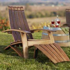 make garden or outdoor furniture from wine barrels adirondack chair