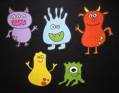 five itty bitty monsters