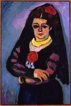 Alexej von Jawlensky, Spanish Woman with Mantilla, 1910