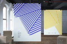 Terry Haggerty Exhibition Series by Jessi Brattengeier, via Behance Graphisches Design, Book Design, Layout Design, Interior Design, Environmental Graphics, Environmental Design, Graphic Design Typography, Branding Design, Brochure Design Inspiration