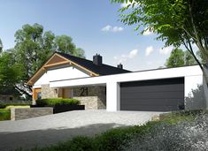DOM.PL™ - Projekt domu AC Daniel G2 CE - DOM AF8-27 - gotowy koszt budowy Modern Family House, Small Modern Home, Modern House Design, Single Storey House Plans, 2 Bedroom House Plans, Farm Plans, Modern Architecture House, Facade House, Design Case