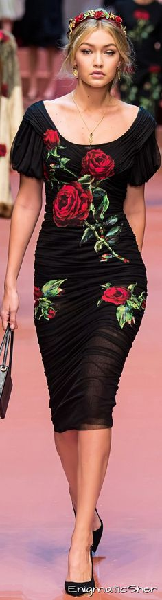 Dolce & Gabbana Collections Fall Winter 2015-16 i hate gigi but i want this entire fit!