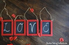 Love chalkboards