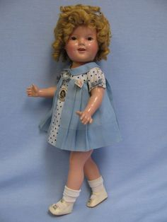 "Choice 20"" Ideal Compo Shirley Temple c1936 All-Original CAPTAIN JANUARY Tag+Pin - For sale on Ruby Lane"